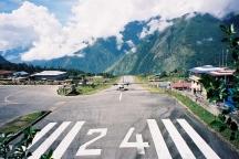 Plane landing at Lukla