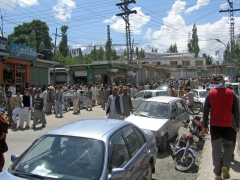 Skardu after Friday prayers at the Mosque
