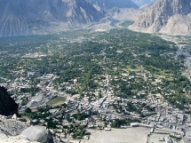 Skardu looks surprisingly big from above