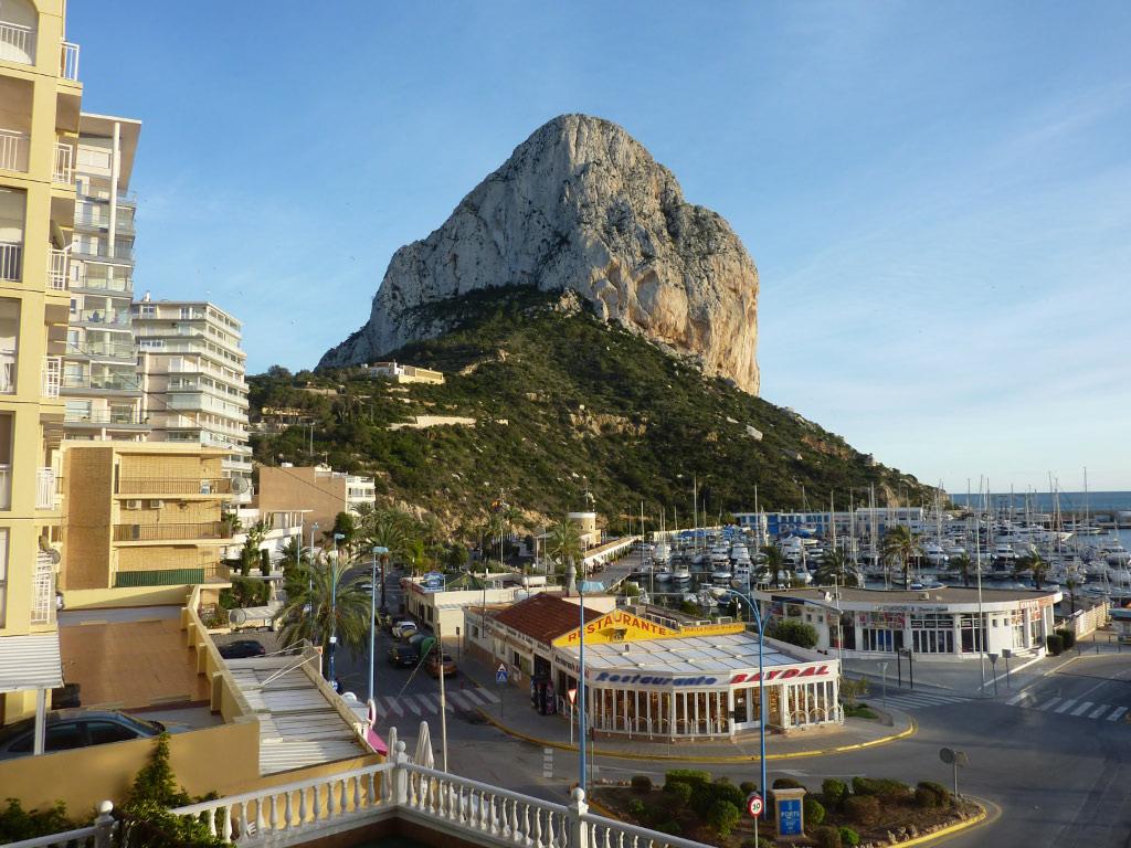 View from porto calpe hotel of the penon de ifach rock - Porto calpe hotel ...